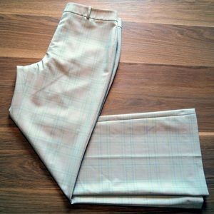 [Antonio Melani] Cream Plaid Career Pants 8